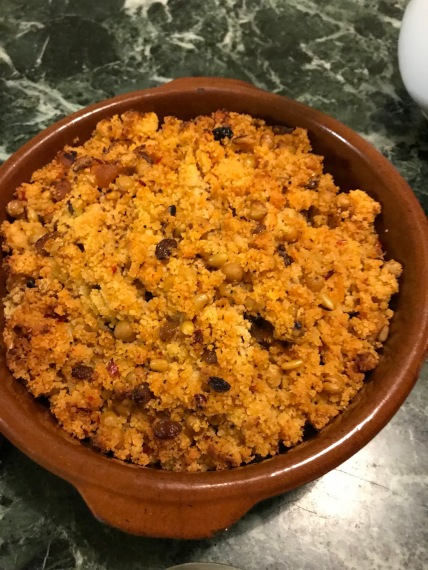 Couscous with red harissa